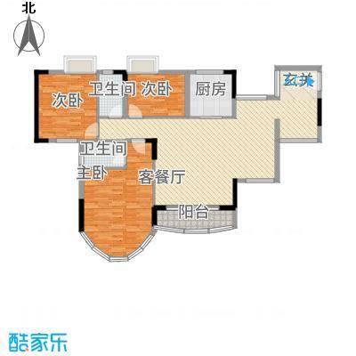 茗雅荟13.00㎡二期A03单位户型3室2厅2卫1厨