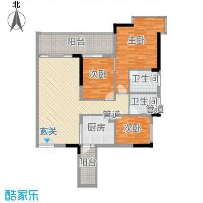 东方华府户型3室