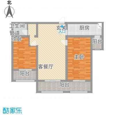 铜城丽都13.85㎡2#1-7户型2室2厅1卫1厨