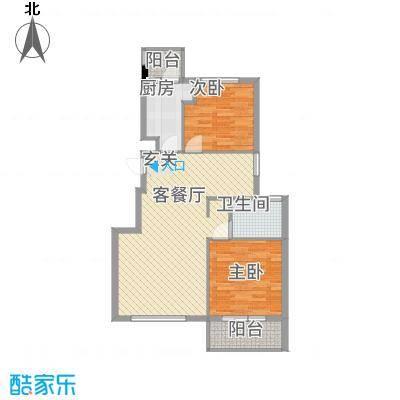 北京公园户型2室