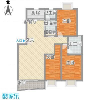 江城人家户型3室