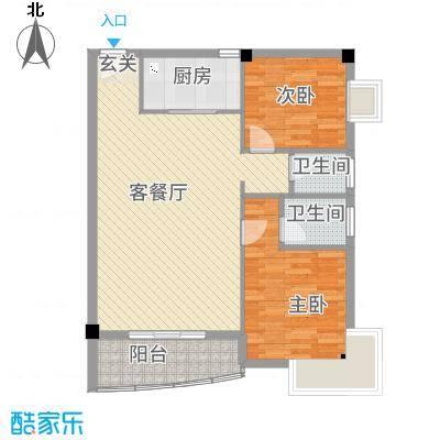 华清中心城三期5#、7#楼3-13层01、02户型