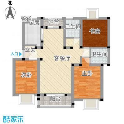 枫津新村81.00㎡户型3室1厅1卫1厨