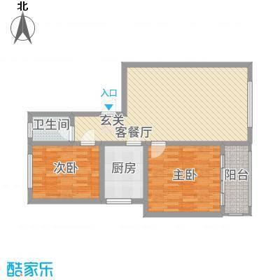 中北花园81.00㎡户型2室
