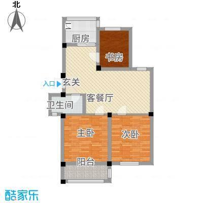 一期1号楼标准层B户型97平米