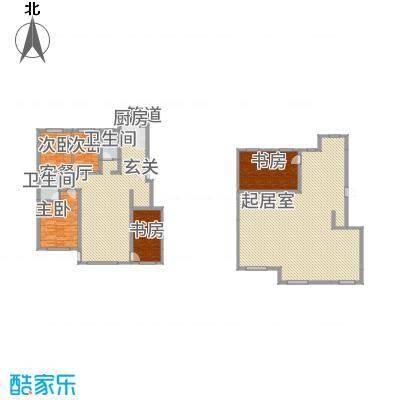 城润万家133.46㎡F10#楼F户型4室2厅2卫1厨