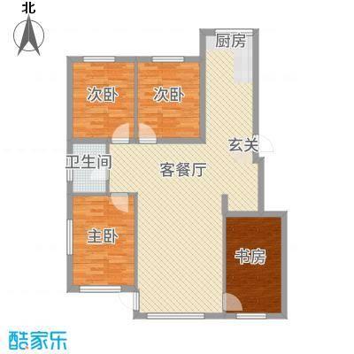 城润万家11.80㎡F10#楼E户型4室2厅2卫1厨