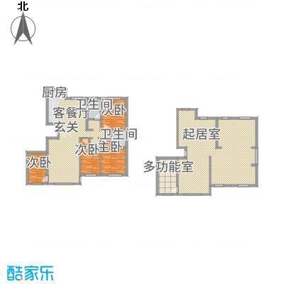 城润万家146.20㎡F9#楼H户型4室2厅2卫1厨