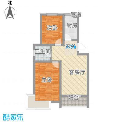 锦汇苑81.63㎡户型2室