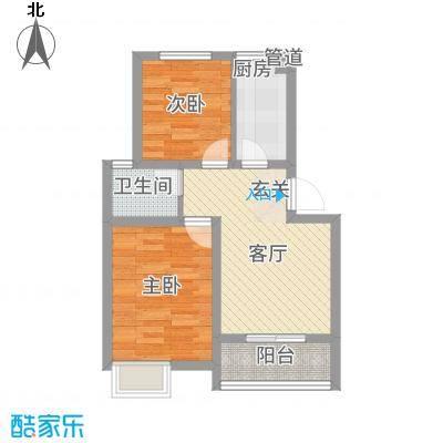 锦汇苑67.60㎡户型2室
