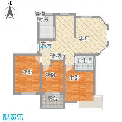 锦汇苑122.00㎡户型3室