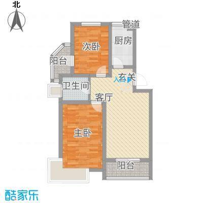 锦汇苑86.21㎡户型2室