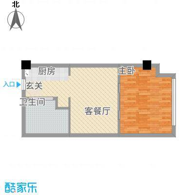 天正湖滨花园64.00㎡户型1室