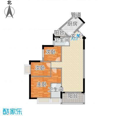 永顺春天户型3室2厅2卫1厨