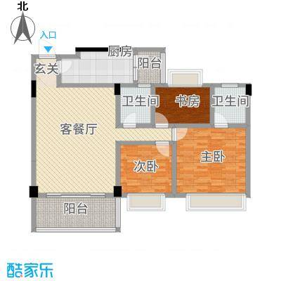观湖雅轩135.00㎡户型