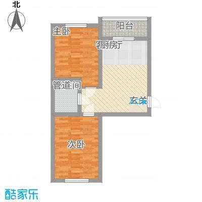 东川文欣澜庭67.25㎡户型