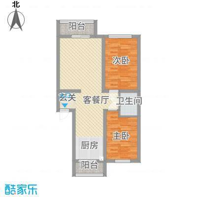 东川文欣澜庭87.55㎡户型