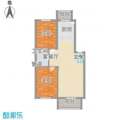东川文欣澜庭8.00㎡户型2室