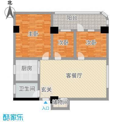 汉华大厦121.00㎡汉华公寓户型3室