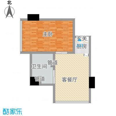 西子中心6.63㎡户型