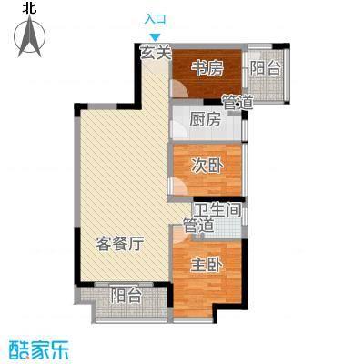 深业欧景城18.00㎡户型3室