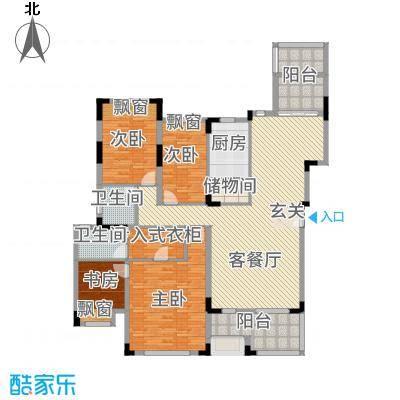 深业欧景城12.00㎡户型4室