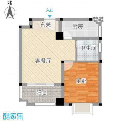 东苑新村53.00㎡户型1室2厅1卫1厨