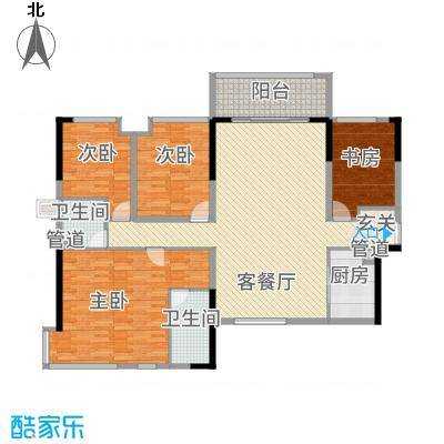 世纪城国际公馆三期户型4室