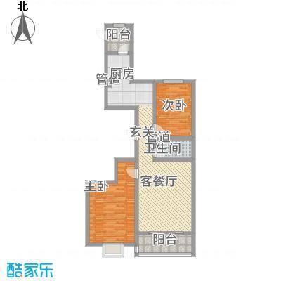 理想城113.53㎡小区C户型2室2厅