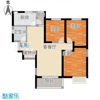 紫薇风尚136.00㎡户型3室