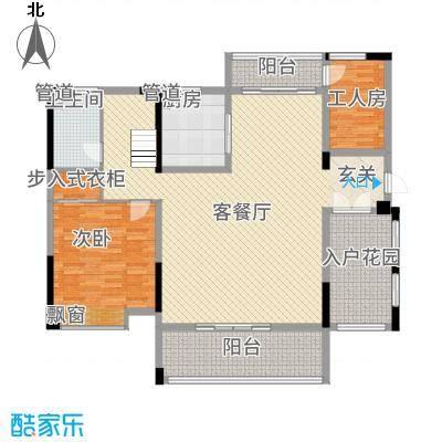铭泰锦山22.56㎡叠嶂轩二栋二单元0复式一层户型3室2厅1卫1厨