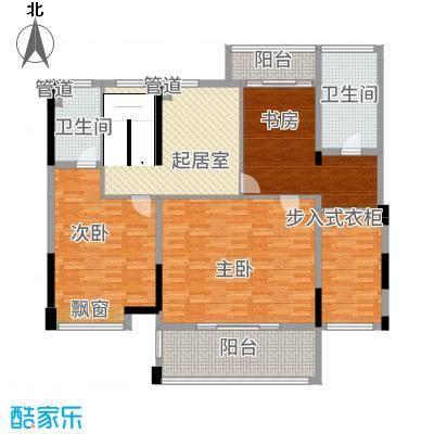 铭泰锦山168.10㎡叠嶂轩二栋一单元01/0复式二层户型2室1厅1卫