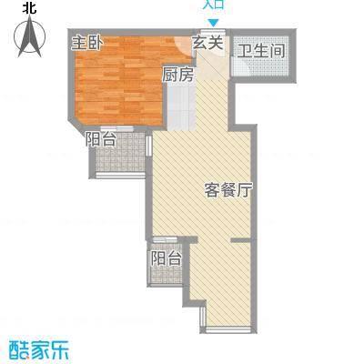 嘉德公寓71.30㎡A底图户型2室1厅1卫1厨