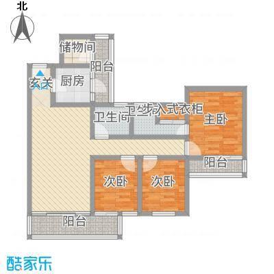 黄金广场113.00㎡户型4室