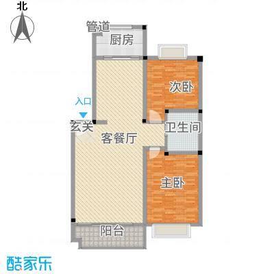 公交一村153.00㎡户型2室2厅1卫1厨