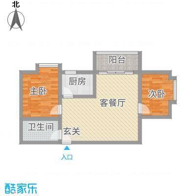 伟诚广场83.00㎡户型2室