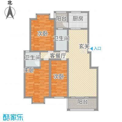 碧水花园144.00㎡B户型3室2厅2卫1厨