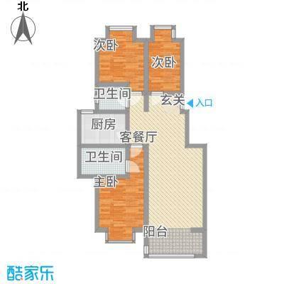 碧水花园111.00㎡C、D、E户型3室2厅2卫1厨
