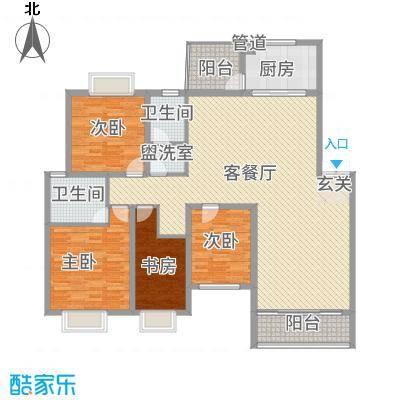 傣泐金湾三期悦江苑161.00㎡F-户型5室2厅2卫1厨