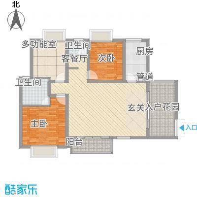 傣泐金湾三期悦江苑11.00㎡C1-户型3室2厅2卫1厨