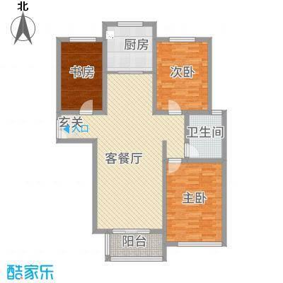 金海花园3212.20㎡C户型3室2厅1卫1厨