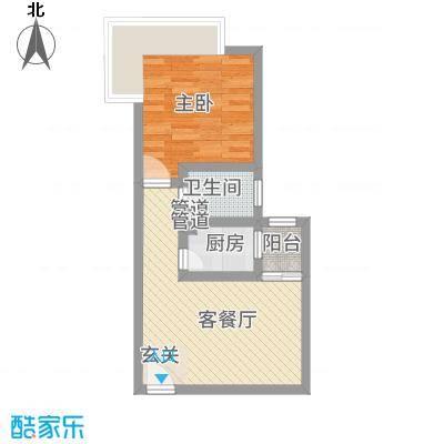 宝安江南城别墅5.00㎡高层海景公馆A户型1室1厅1卫