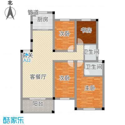 中岭康城116.62㎡B户型