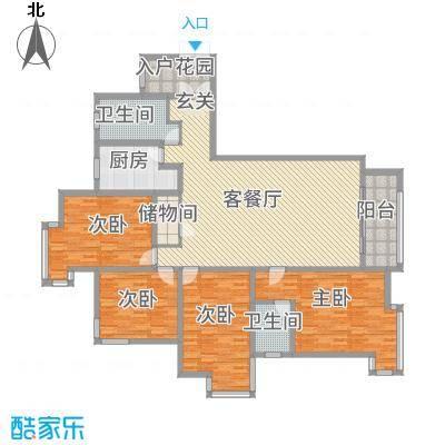 宝安江南城别墅18.00㎡高层海景公馆E户型4室2厅2卫