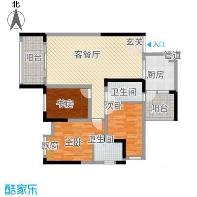 祥瑞・云鼎阳光111.38㎡户型3室2厅2卫