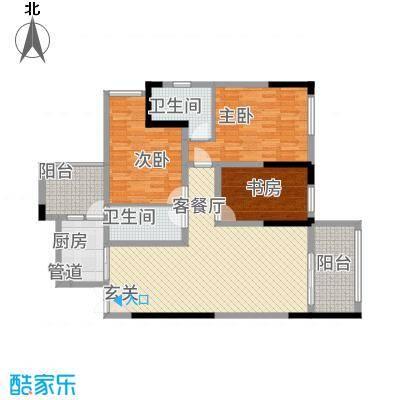 祥瑞・云鼎阳光11.20㎡户型3室2厅2卫