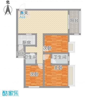 四季花城・长江帝景116.73㎡B户型3室2厅2卫