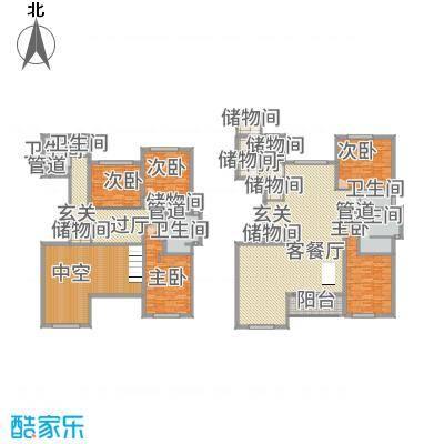 裕沁庭346.00㎡AA(E)户型4室3厅4卫1厨