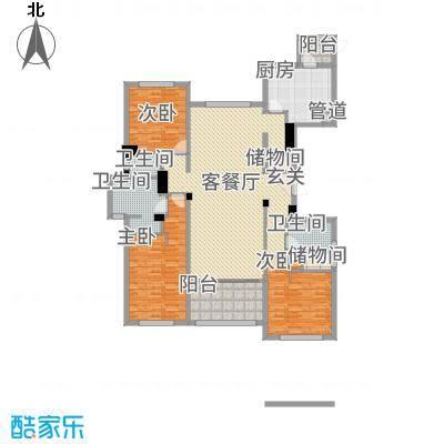 裕沁庭A(W)户型3室2厅3卫1厨