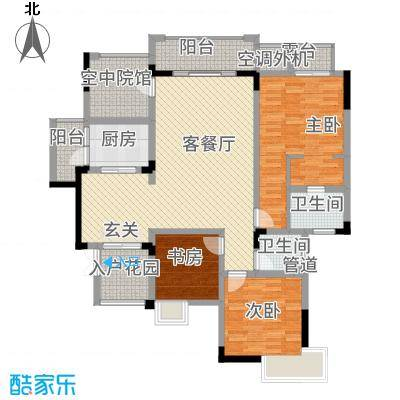 忆诚・城市铭人13.82㎡户型3室2厅2卫